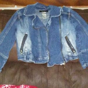 Baby phat blue jean crop jacket